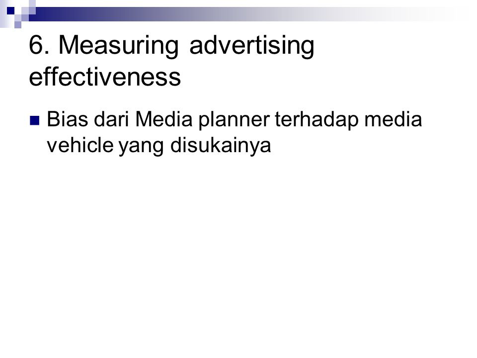 6. Measuring advertising effectiveness