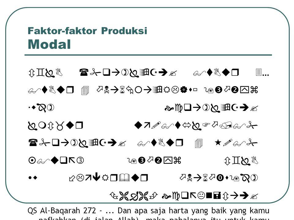 Faktor-faktor Produksi Modal