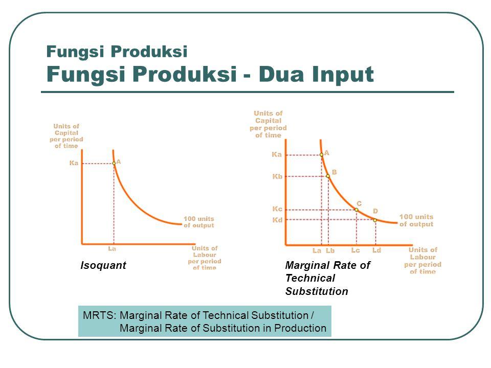 Fungsi Produksi Fungsi Produksi - Dua Input