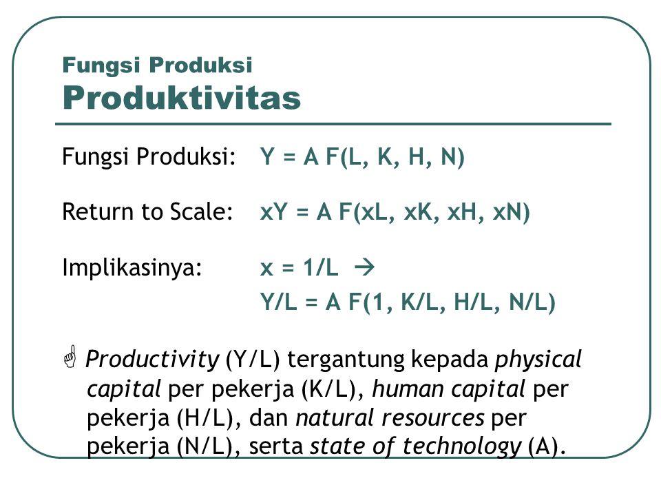 Fungsi Produksi Produktivitas