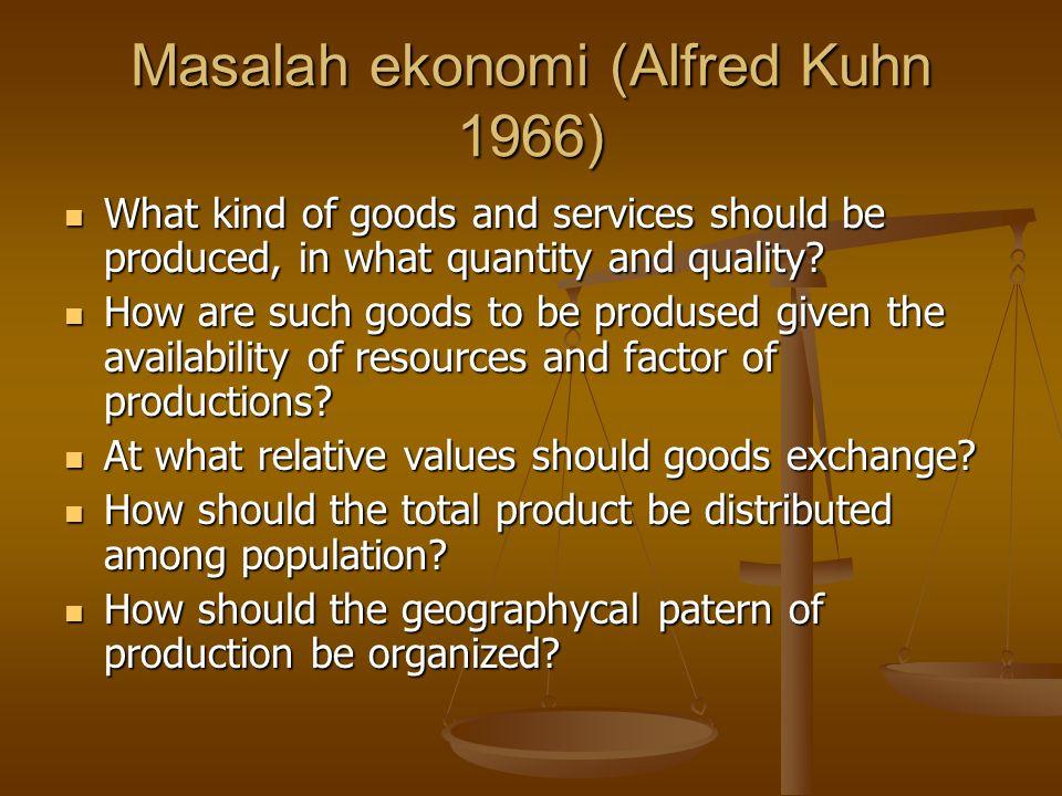 Masalah ekonomi (Alfred Kuhn 1966)
