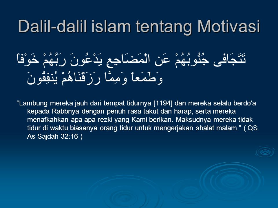 Dalil-dalil islam tentang Motivasi