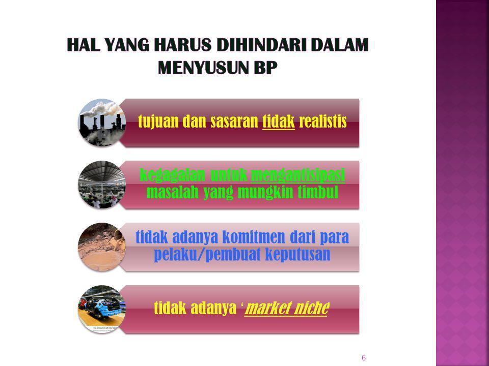 Hal yang harus dihindari dalam menyusun BP