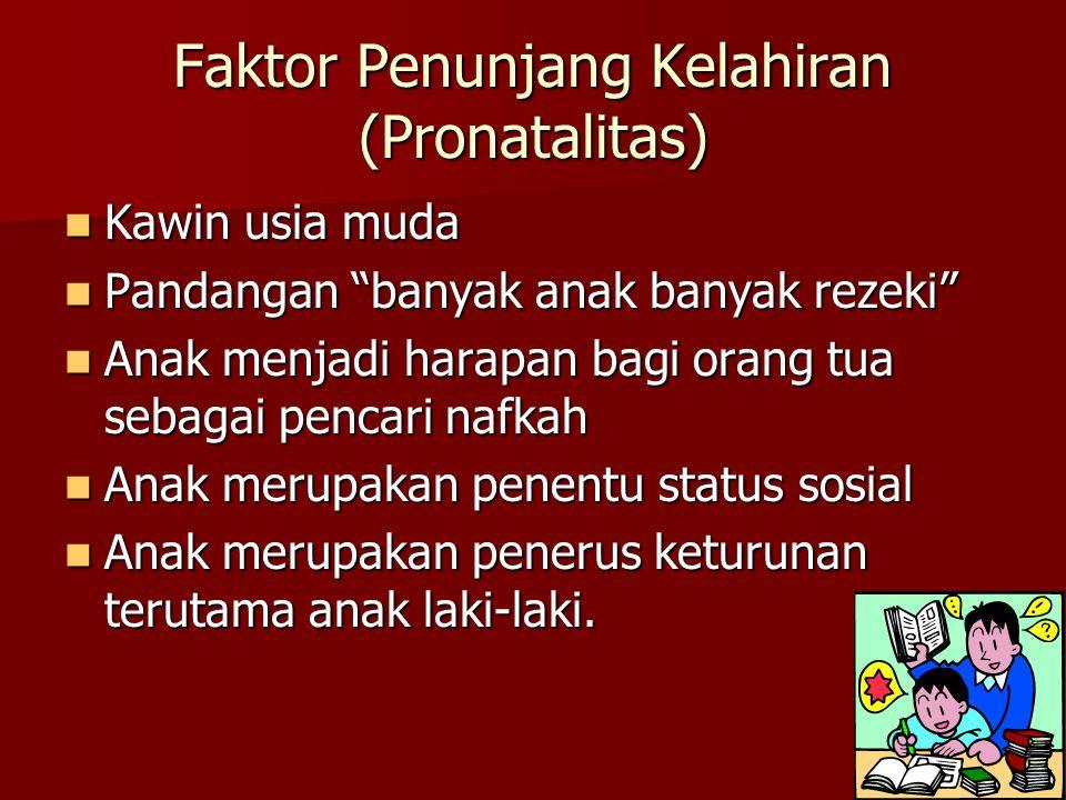 Faktor Penunjang Kelahiran (Pronatalitas)