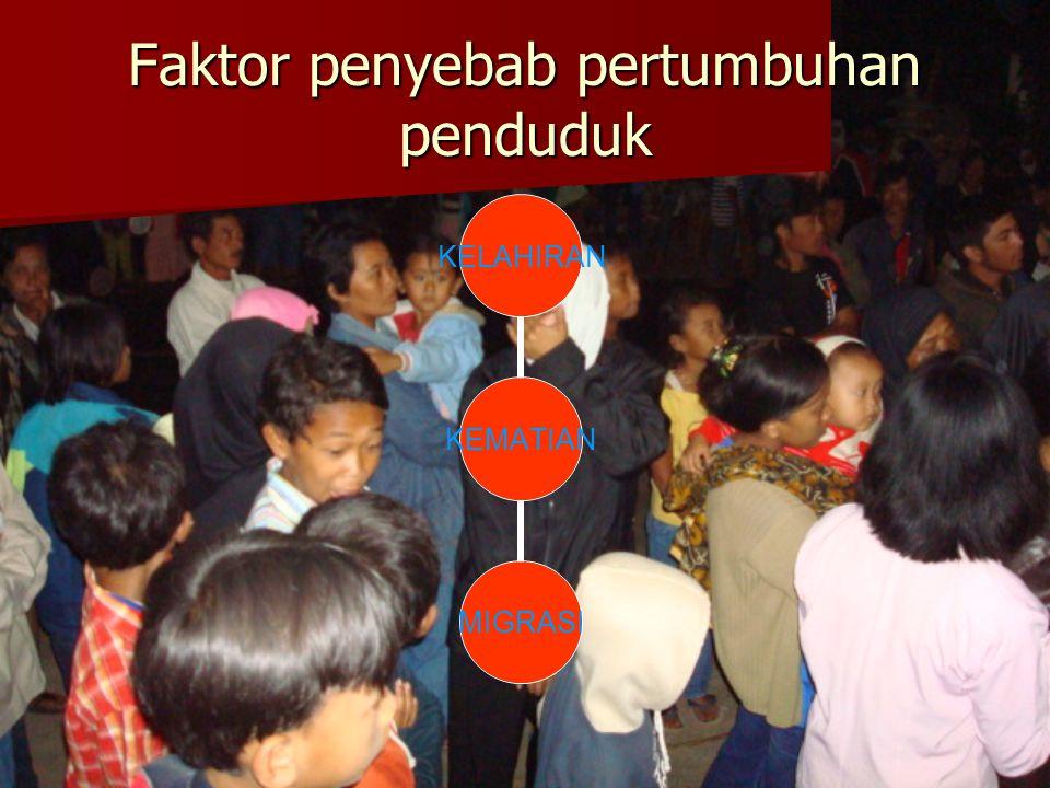 Faktor penyebab pertumbuhan penduduk