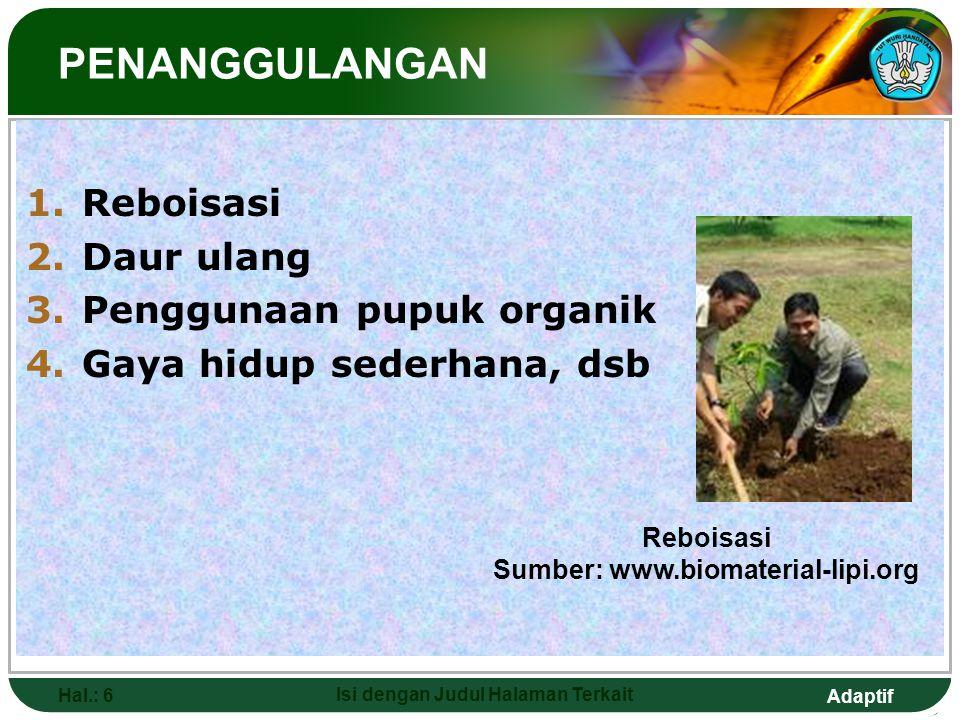 Sumber: www.biomaterial-lipi.org Isi dengan Judul Halaman Terkait