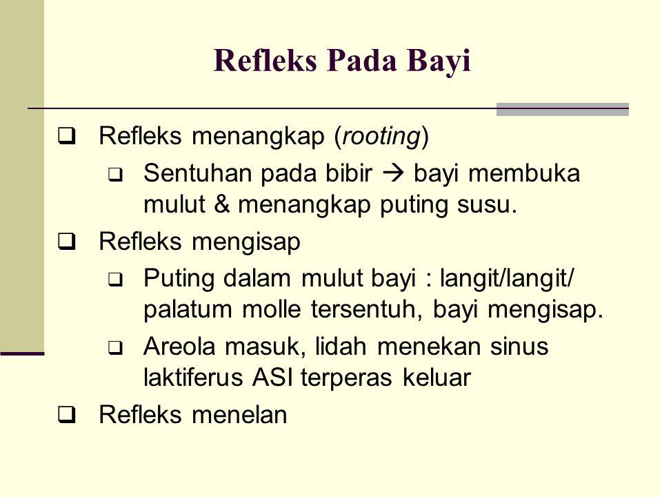 Refleks Pada Bayi Refleks menangkap (rooting)