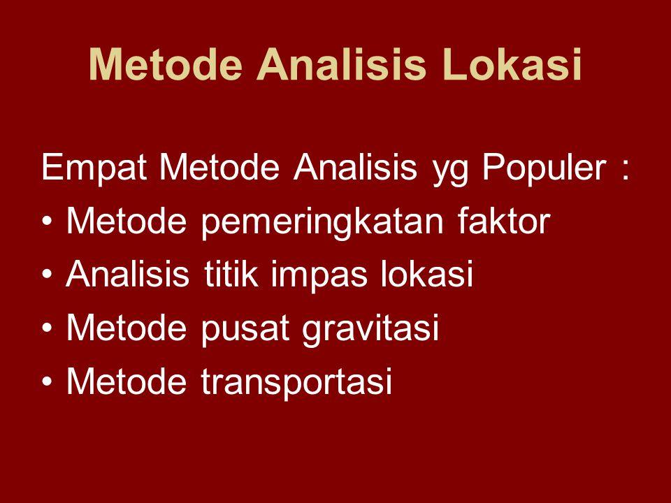 Metode Analisis Lokasi