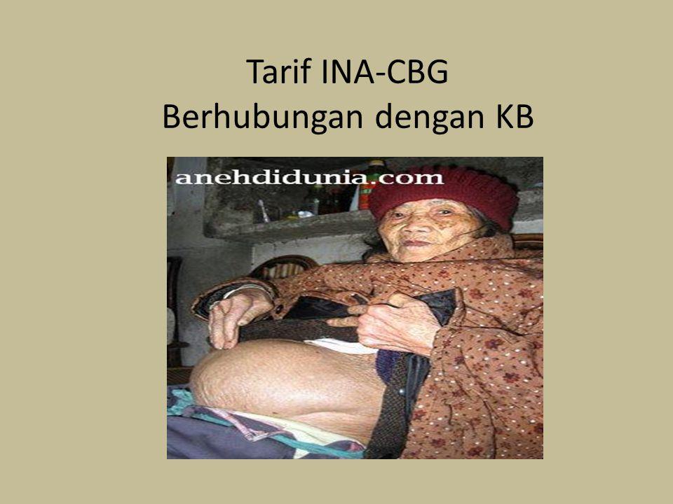 Tarif INA-CBG Berhubungan dengan KB