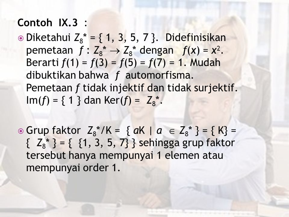 Contoh IX.3 :