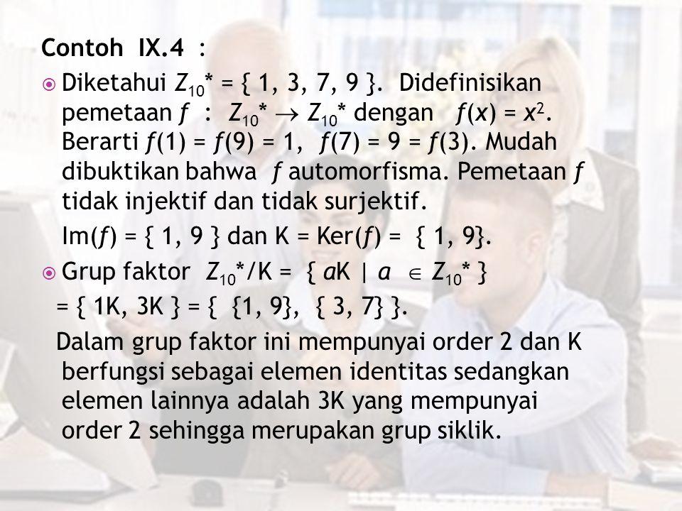 Contoh IX.4 :