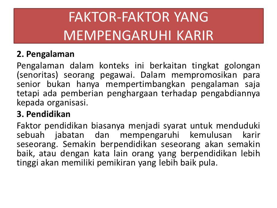 FAKTOR-FAKTOR YANG MEMPENGARUHI KARIR