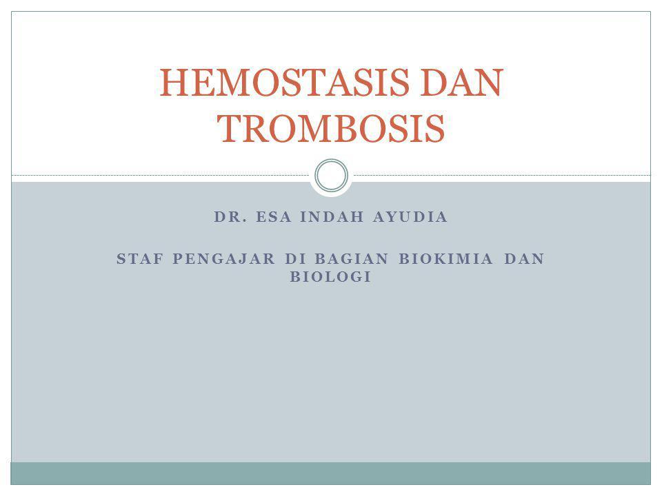 HEMOSTASIS DAN TROMBOSIS