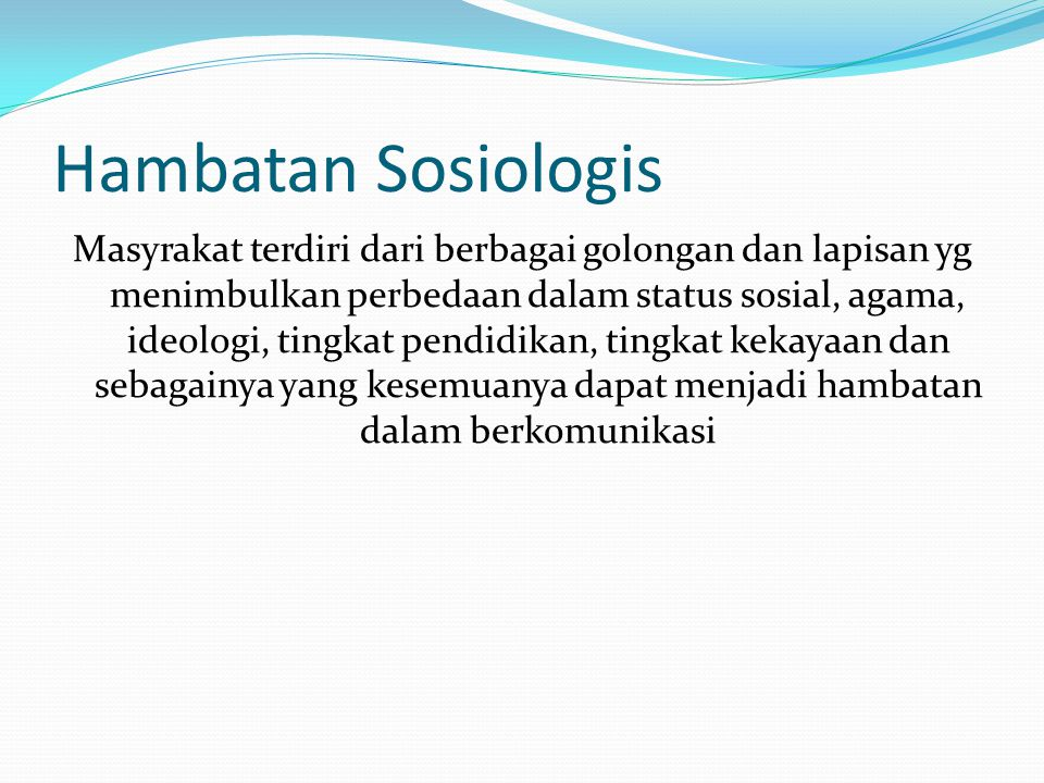Hambatan Sosiologis
