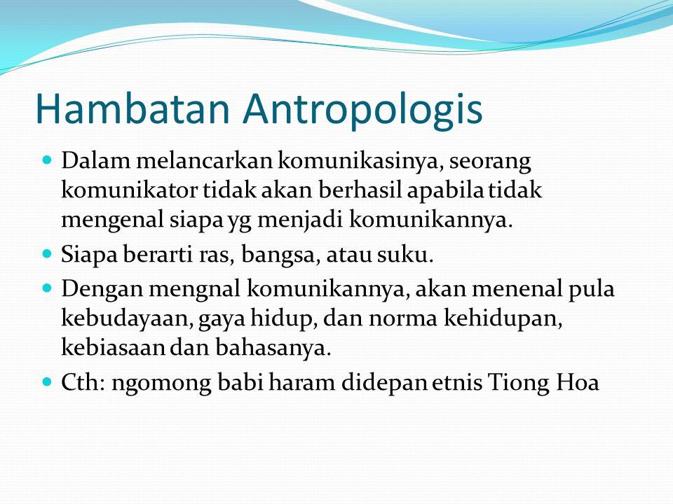 Hambatan Antropologis