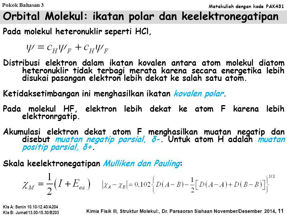 Orbital Molekul: ikatan polar dan keelektronegatipan
