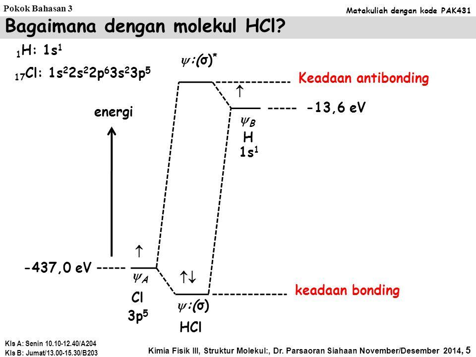 Bagaimana dengan molekul HCl