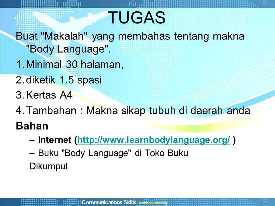 TUGAS Buat Makalah yang membahas tentang makna Body Language .