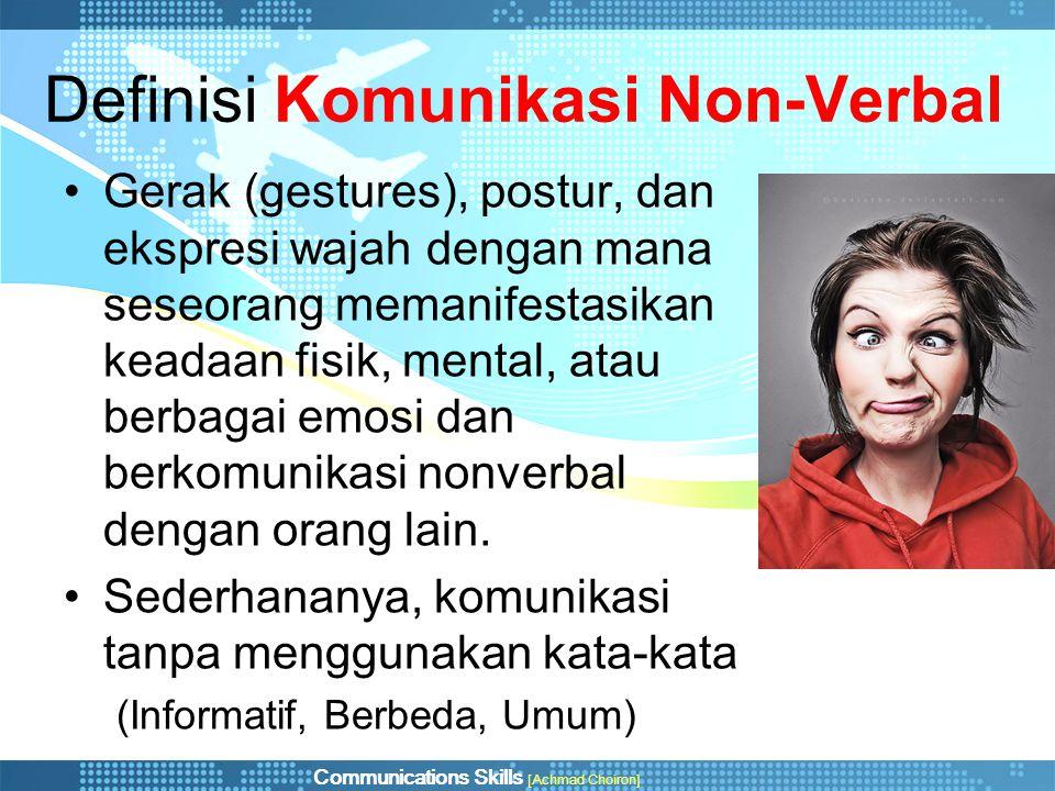 Definisi Komunikasi Non-Verbal