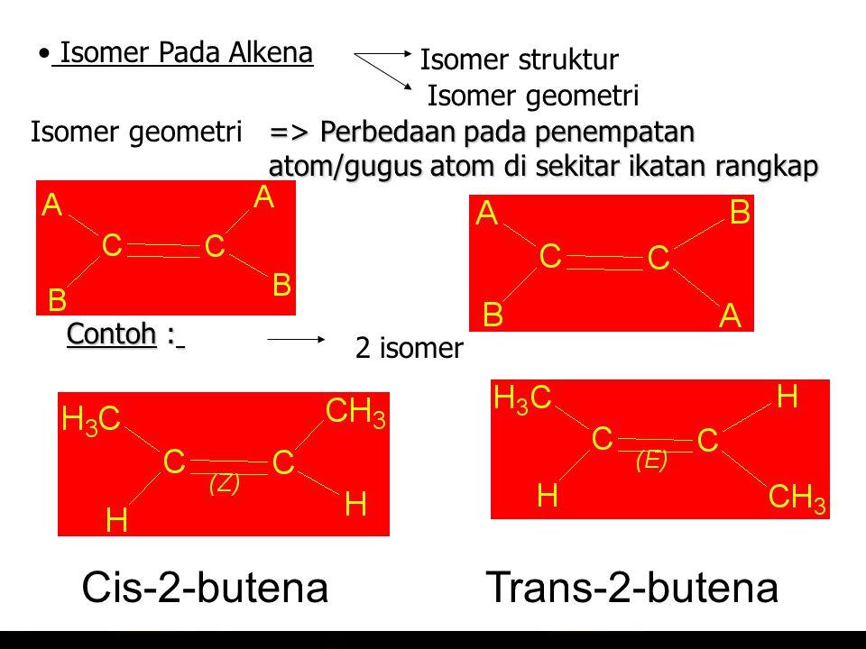 Cis-2-butena Trans-2-butena Isomer Pada Alkena Isomer struktur