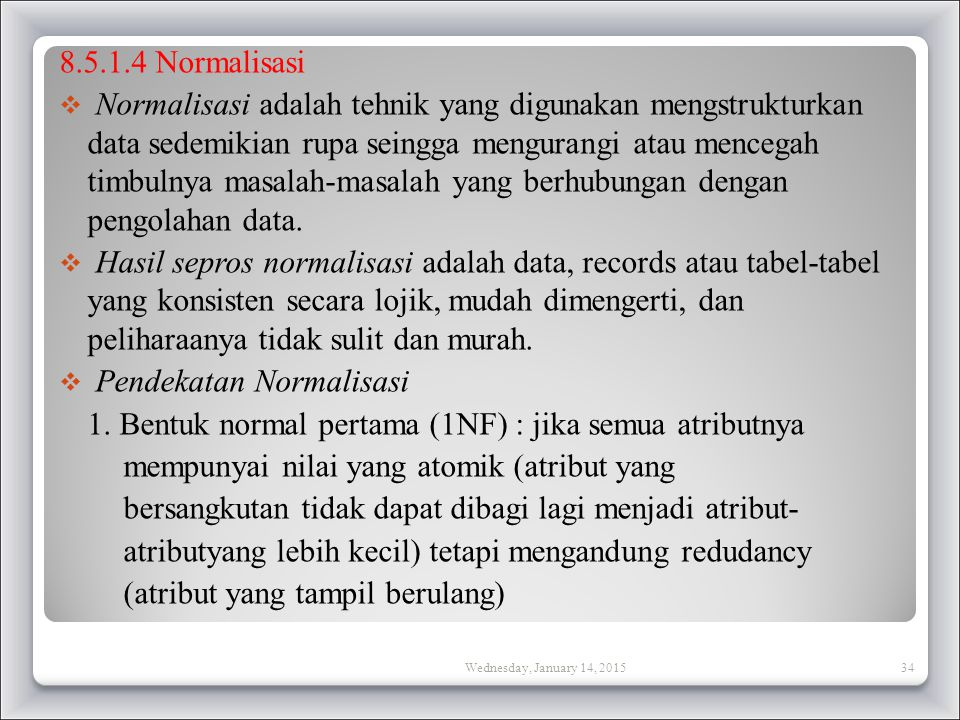 Pendekatan Normalisasi