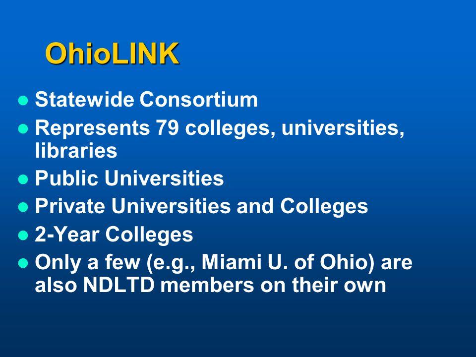 OhioLINK Statewide Consortium