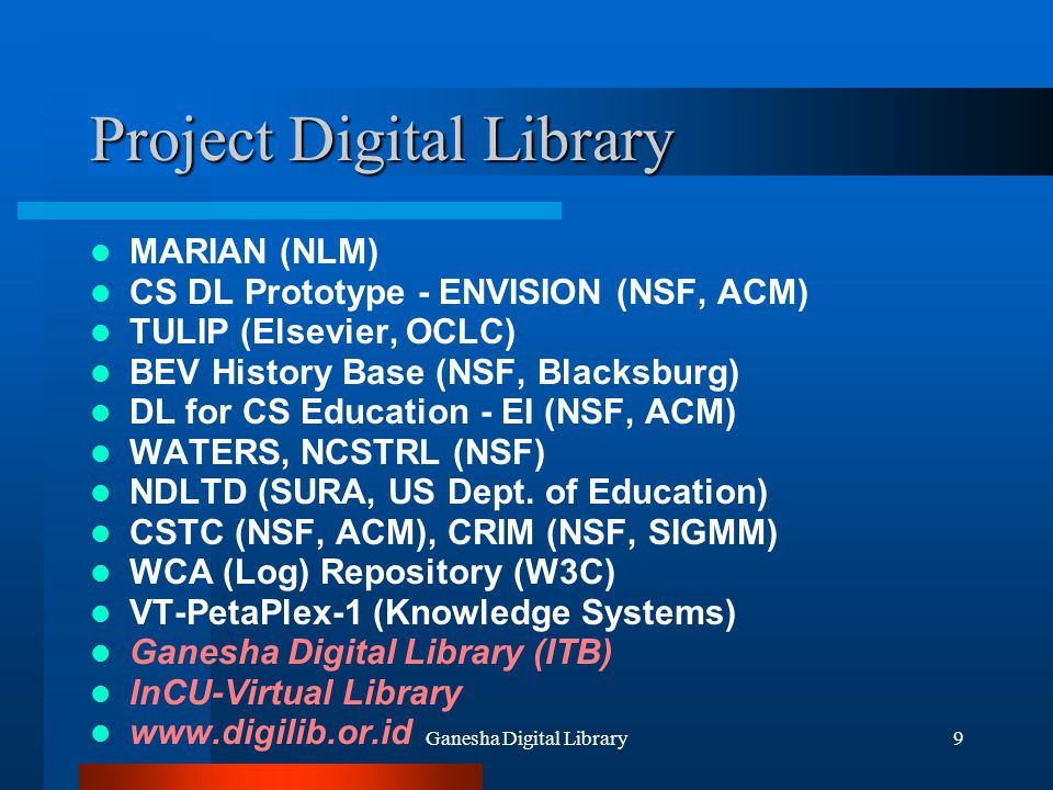 Project Digital Library