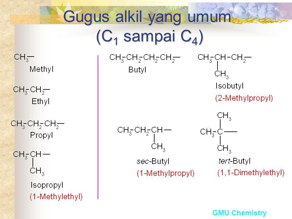 Gugus alkil yang umum (C1 sampai C4)