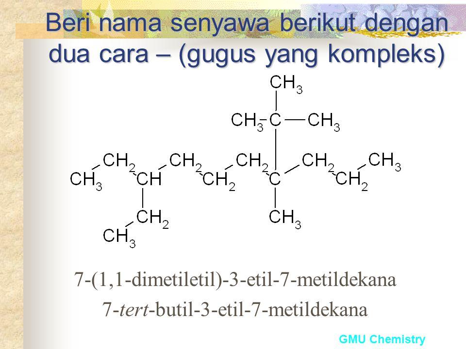 Beri nama senyawa berikut dengan dua cara – (gugus yang kompleks)