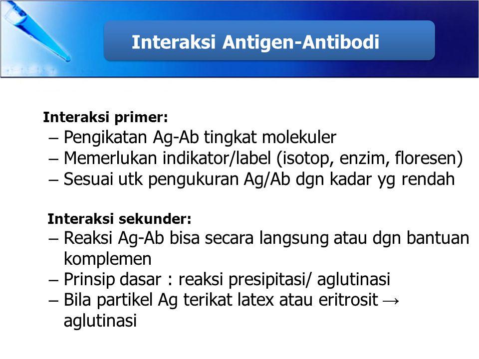 Interaksi Antigen-Antibodi