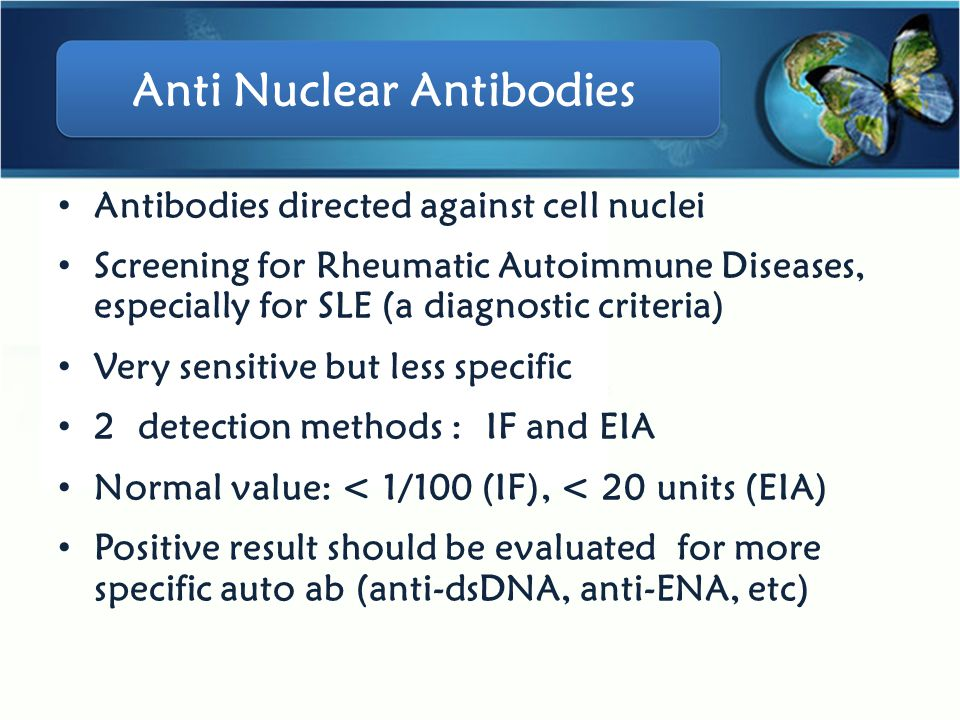 Anti Nuclear Antibodies