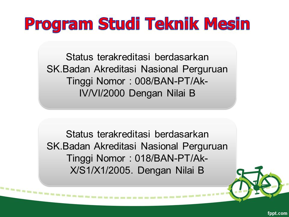 Program Studi Teknik Mesin