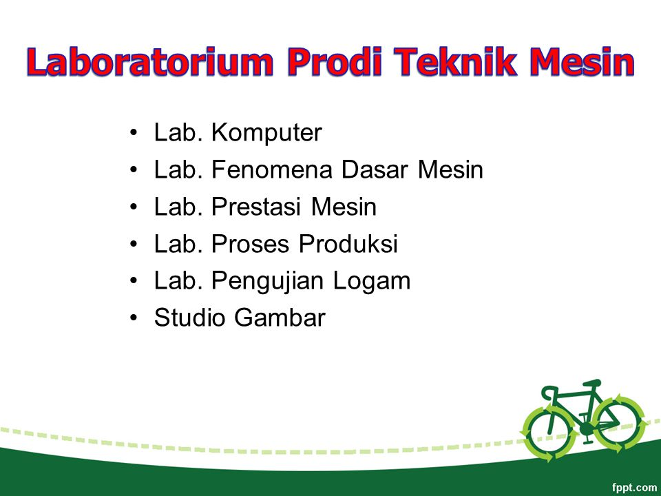 Laboratorium Prodi Teknik Mesin