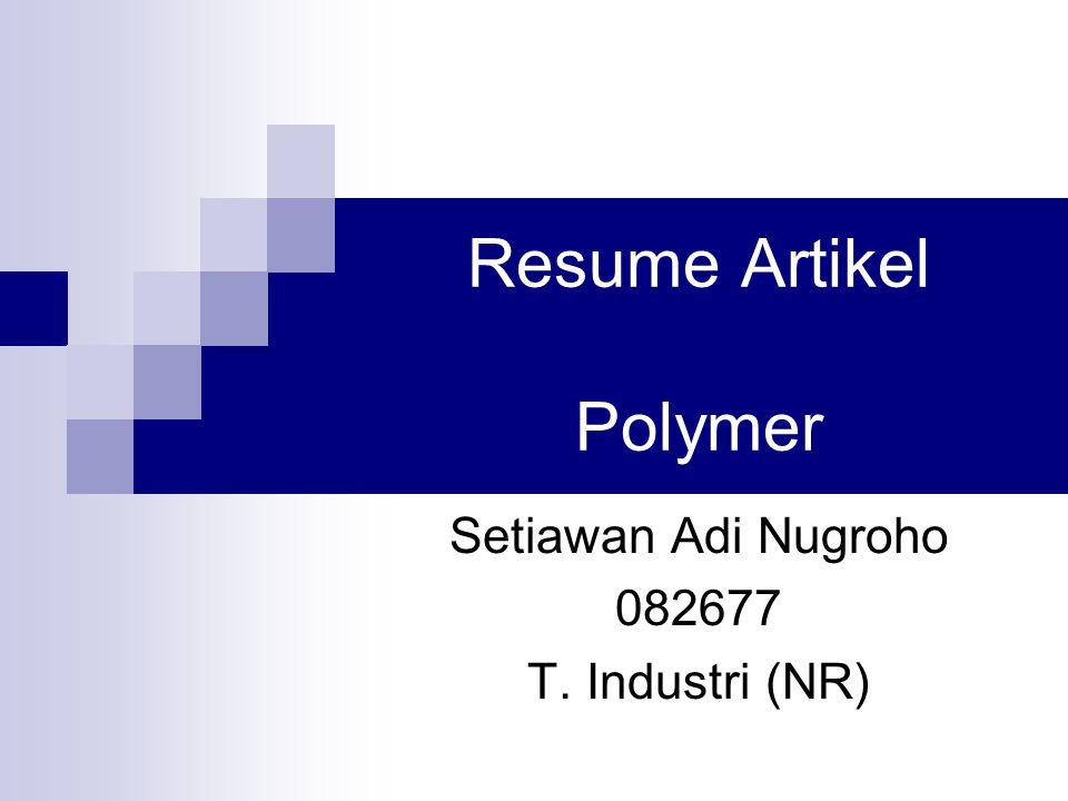Resume Artikel Polymer