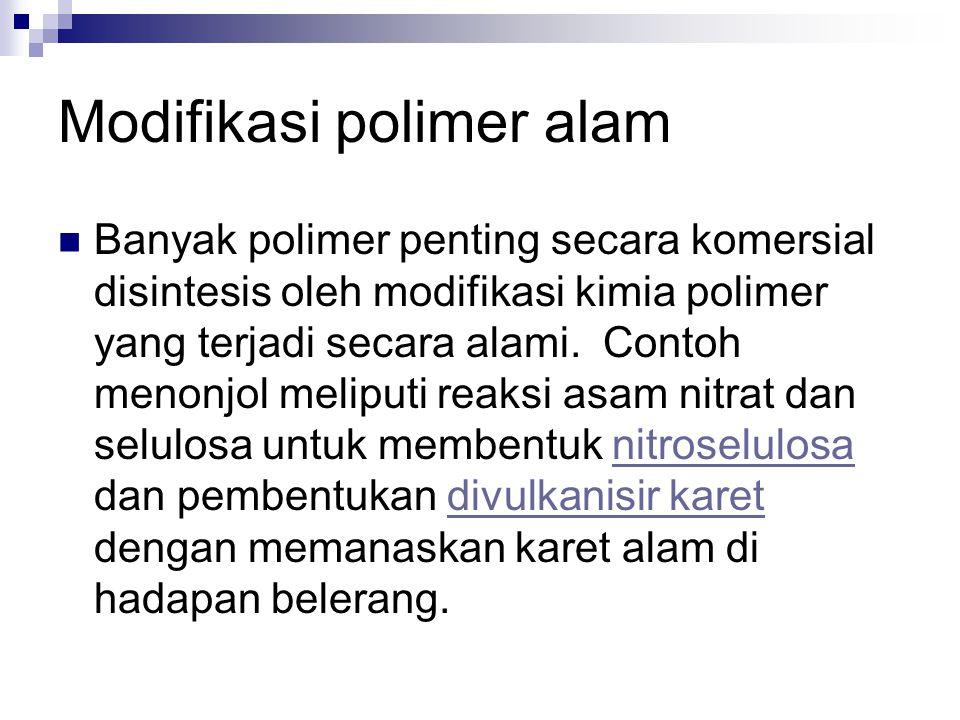 Modifikasi polimer alam