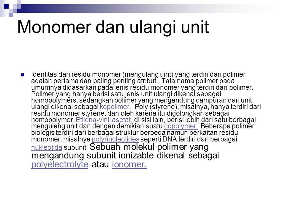 Monomer dan ulangi unit