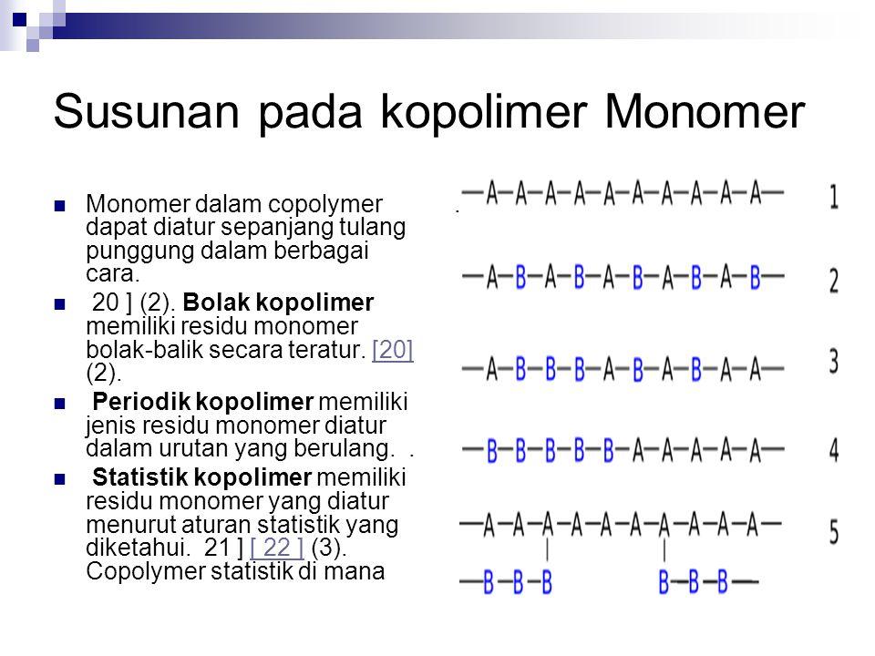 Susunan pada kopolimer Monomer