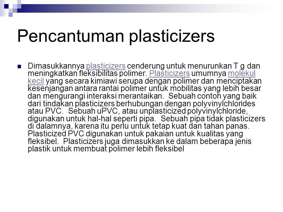 Pencantuman plasticizers