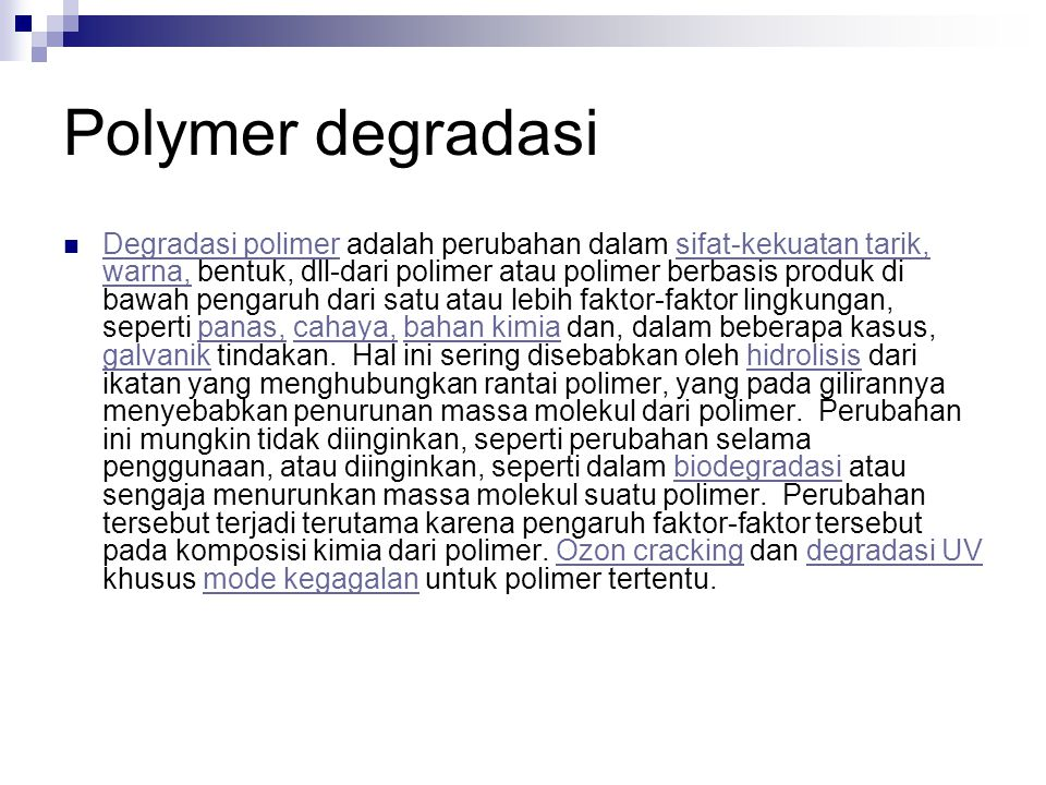 Polymer degradasi