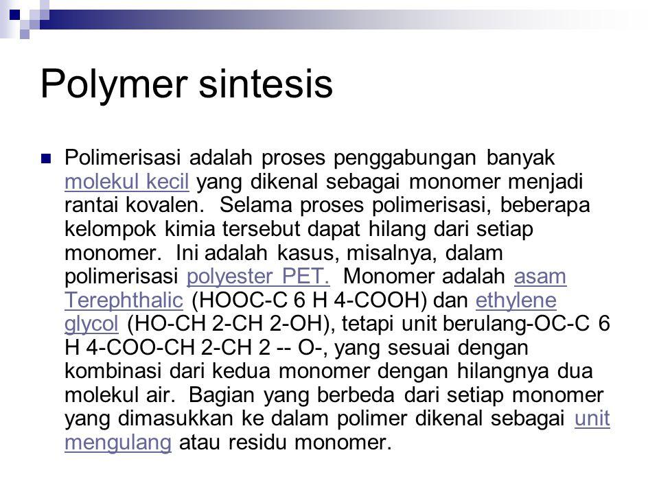 Polymer sintesis