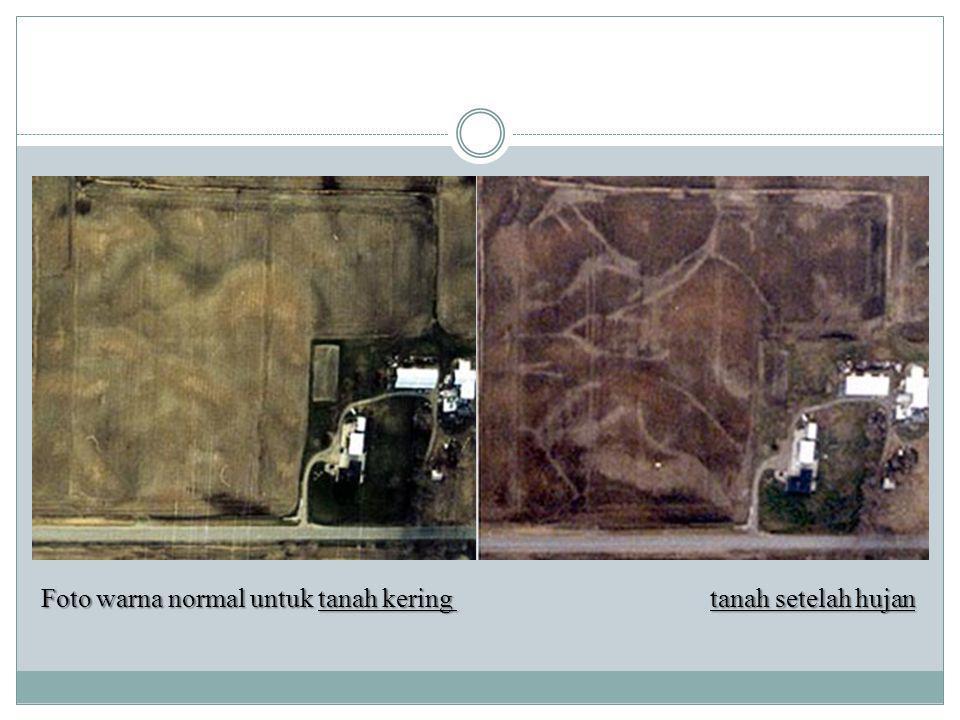 Foto warna normal untuk tanah kering tanah setelah hujan