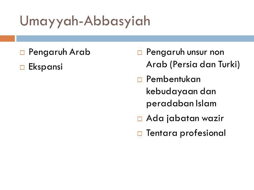 Umayyah-Abbasyiah Pengaruh Arab Ekspansi