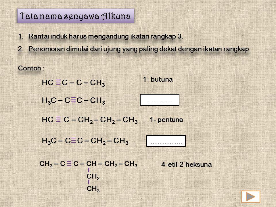 Tata nama senyawa Alkuna