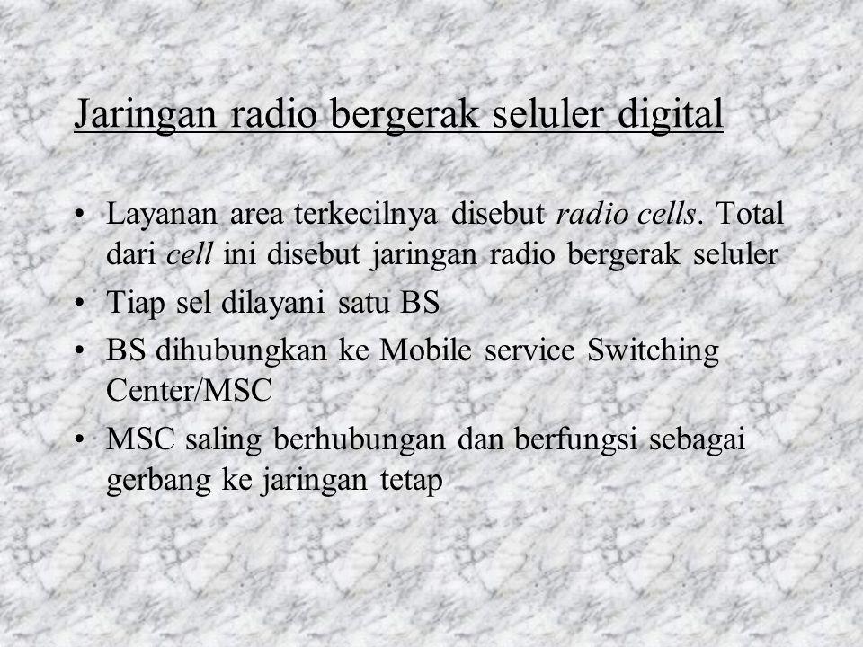 Jaringan radio bergerak seluler digital