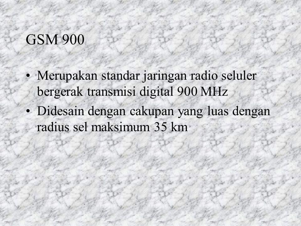 GSM 900 Merupakan standar jaringan radio seluler bergerak transmisi digital 900 MHz.