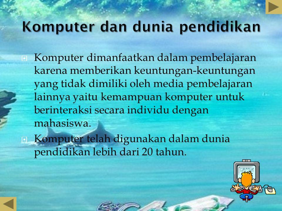 Komputer dan dunia pendidikan