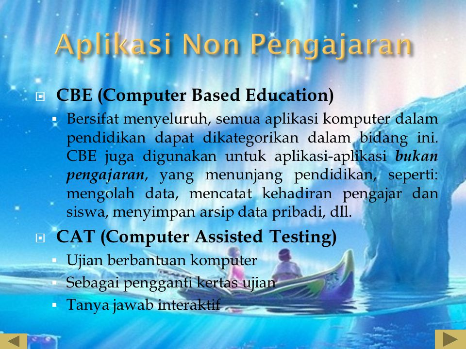 Aplikasi Non Pengajaran