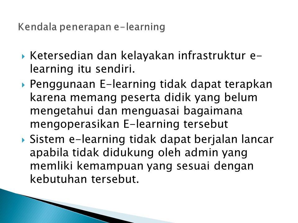 Kendala penerapan e-learning