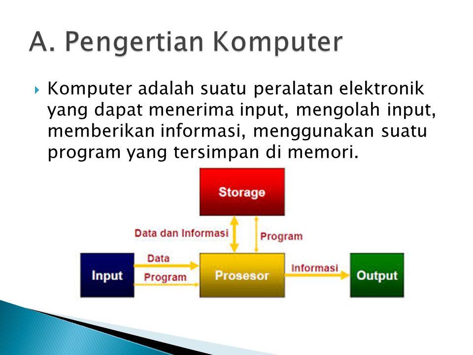 A. Pengertian Komputer