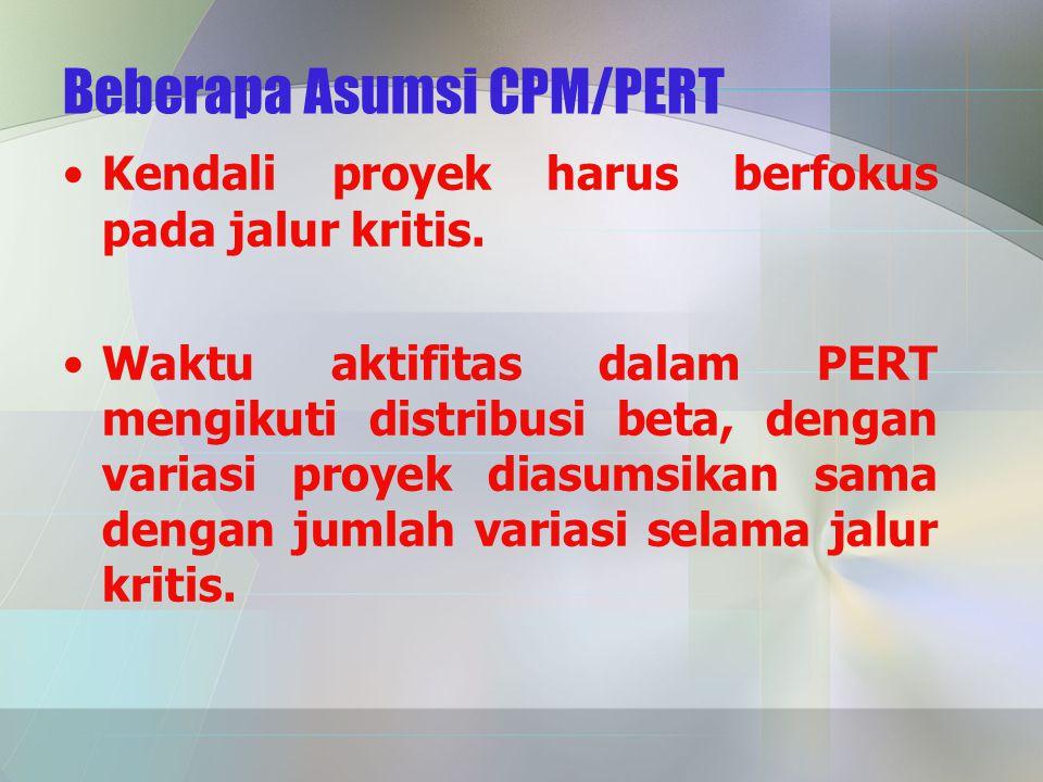 Beberapa Asumsi CPM/PERT